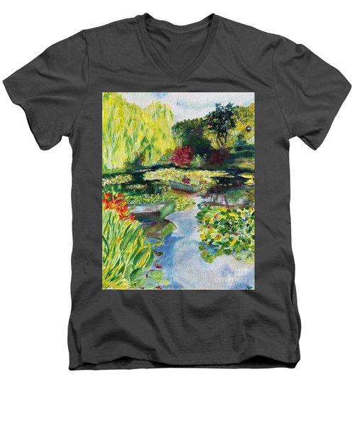 Tending The Pond Men's V-Neck T-Shirt