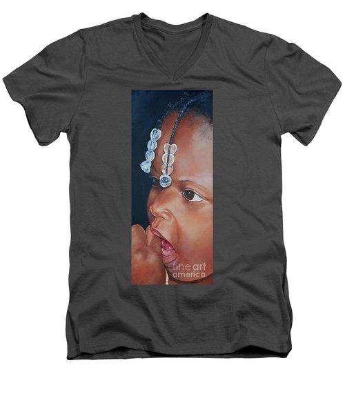 Teniya Men's V-Neck T-Shirt