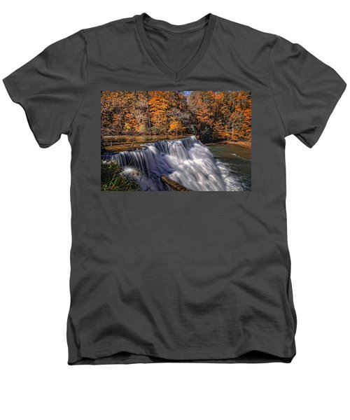 Tennessee Waterfall Men's V-Neck T-Shirt
