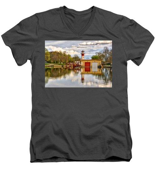 Tenney Lock - Madison - Wisconsin Men's V-Neck T-Shirt
