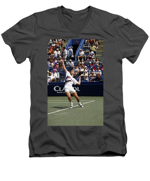 Tennis Serve Men's V-Neck T-Shirt