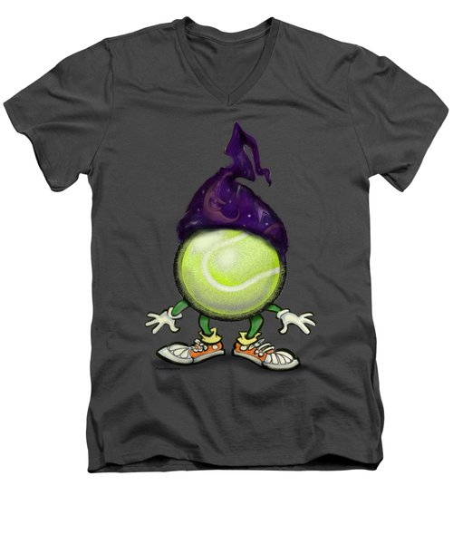 Tennis Wiz Men's V-Neck T-Shirt by Kevin Middleton