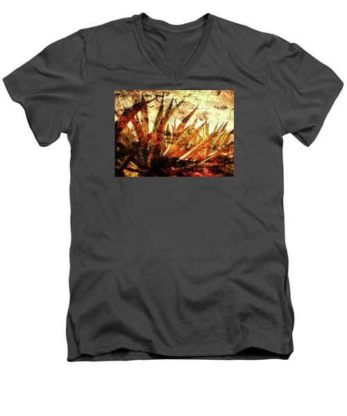 Tequila Field Men's V-Neck T-Shirt by J- J- Espinoza