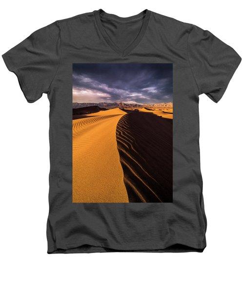 Terminus Awaits Men's V-Neck T-Shirt by Bjorn Burton