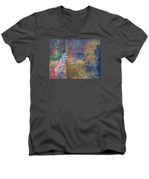 Terra Firma Men's V-Neck T-Shirt by Theresa Marie Johnson