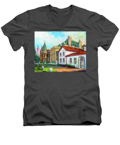 Terrace Villas Men's V-Neck T-Shirt by Les Leffingwell