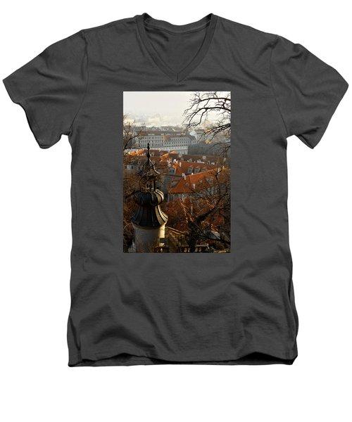 Terracotta Crowns Men's V-Neck T-Shirt
