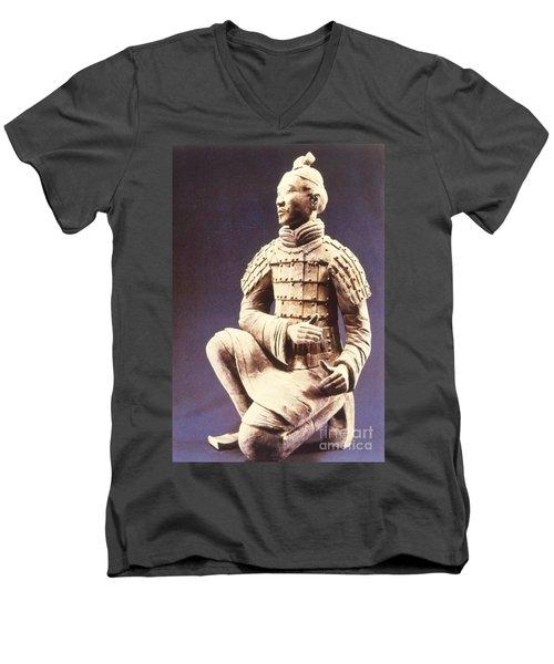 Terracotta Soldier Men's V-Neck T-Shirt