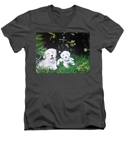 Terriers' Farm Pals. Men's V-Neck T-Shirt