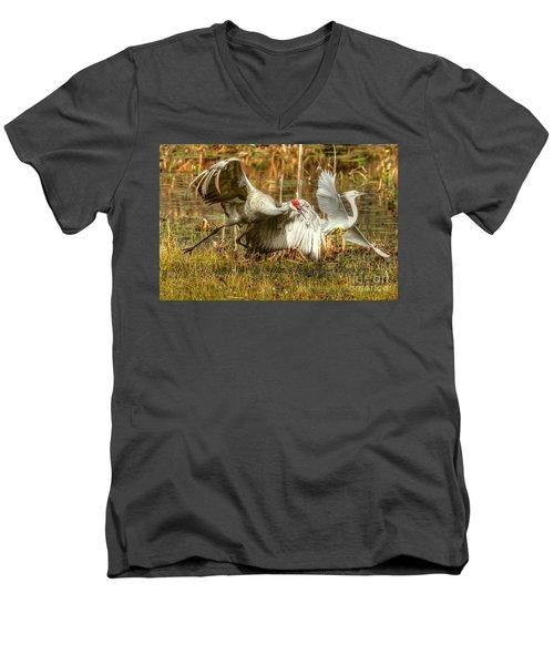 Territorial Dispute Men's V-Neck T-Shirt by Myrna Bradshaw