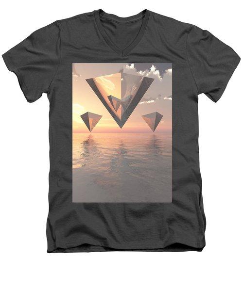 Tessellate Men's V-Neck T-Shirt
