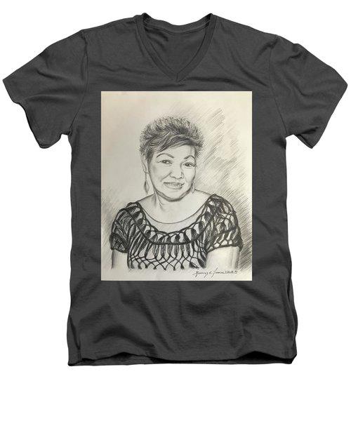 Tessie Guinto  Men's V-Neck T-Shirt