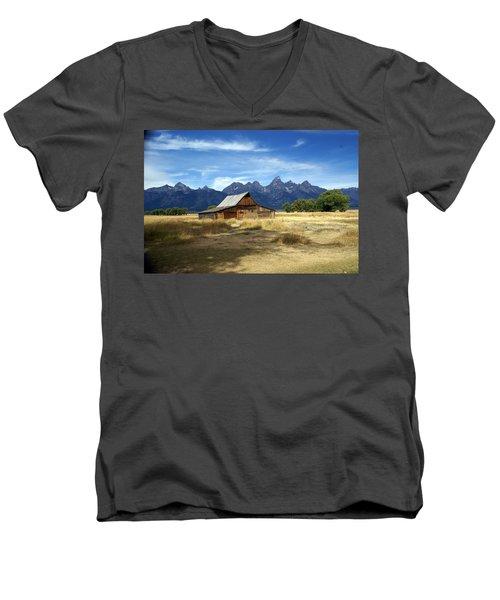 Teton Barn 3 Men's V-Neck T-Shirt