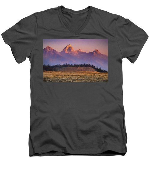 Teton Sunrise Men's V-Neck T-Shirt