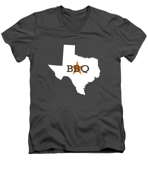 Texas Bbq Men's V-Neck T-Shirt by Nancy Ingersoll