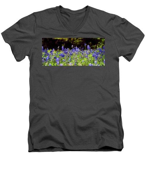 Texas Bluebonnets IIi Men's V-Neck T-Shirt