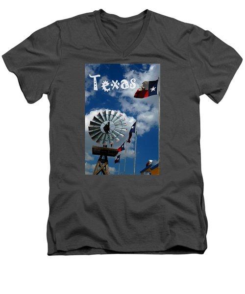 Texas Men's V-Neck T-Shirt by Bob Pardue
