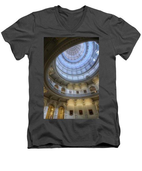 Texas Capitol Dome Interior Men's V-Neck T-Shirt