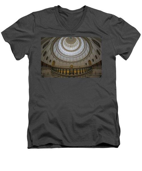 Texas Capitol Dome Wide Angle Men's V-Neck T-Shirt
