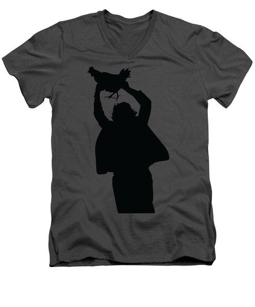 Texas Chicken Massacre Men's V-Neck T-Shirt