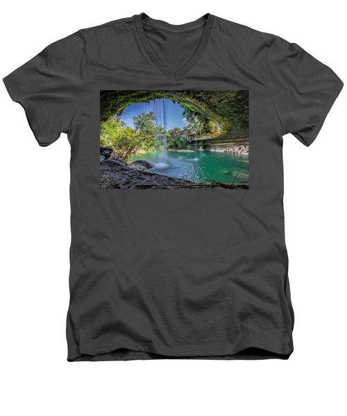 Texas Paradise Men's V-Neck T-Shirt by Jonathan Davison