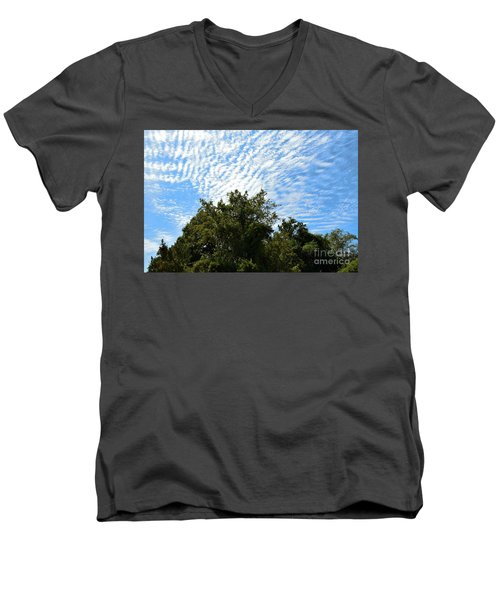 Men's V-Neck T-Shirt featuring the photograph Texas Scene - Midday  by Ray Shrewsberry
