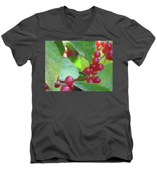 Textured Berries Men's V-Neck T-Shirt