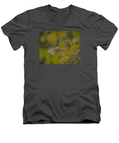 Textured Butterfly 1   Men's V-Neck T-Shirt by Leif Sohlman