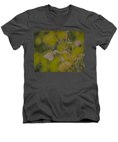 Textured Butterfly 1   Men's V-Neck T-Shirt