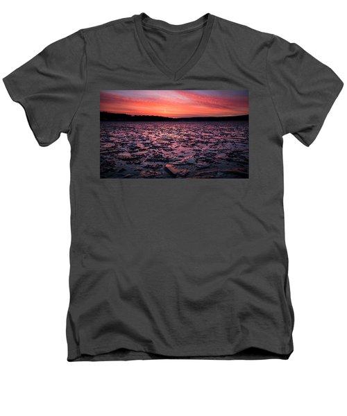 Textured Ice Men's V-Neck T-Shirt