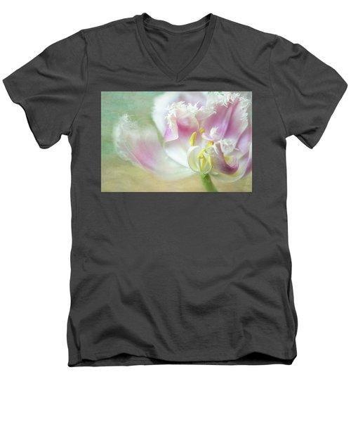 Textured Tulip Men's V-Neck T-Shirt