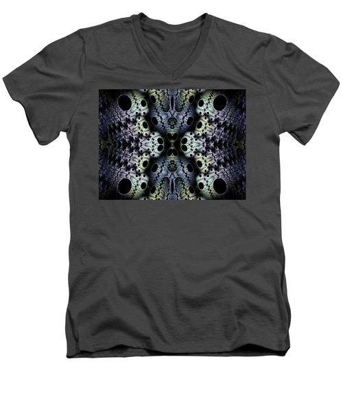 Texturized  Men's V-Neck T-Shirt by Lea Wiggins