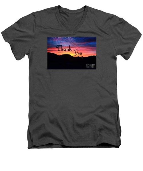 Thank You Water Men's V-Neck T-Shirt by Sharon Soberon