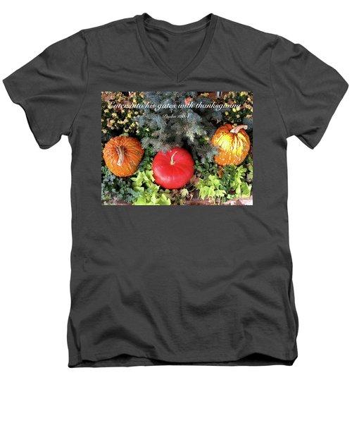 Thanksgiving Men's V-Neck T-Shirt by Russell Keating