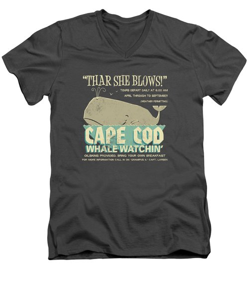 Thar She Blows Men's V-Neck T-Shirt