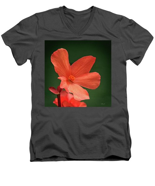 That Orange Flower Men's V-Neck T-Shirt