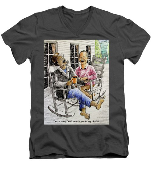 That's Why God Made Rocking Chairs Men's V-Neck T-Shirt