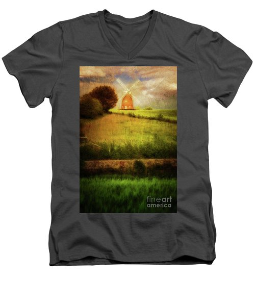 Thaxted Mill Men's V-Neck T-Shirt by Jack Torcello