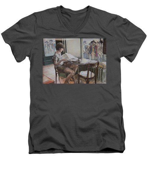 The 4th Of July Men's V-Neck T-Shirt by Yvonne Wright