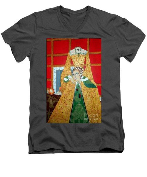 The 5th, Beheaded -- Tudor Portrait, Catherine Howard, #3 In Famous Flirts Series Men's V-Neck T-Shirt