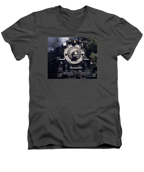 Men's V-Neck T-Shirt featuring the photograph The 765 by Jim Lepard