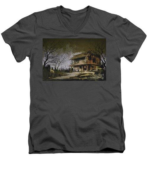 The Abandoned House Men's V-Neck T-Shirt