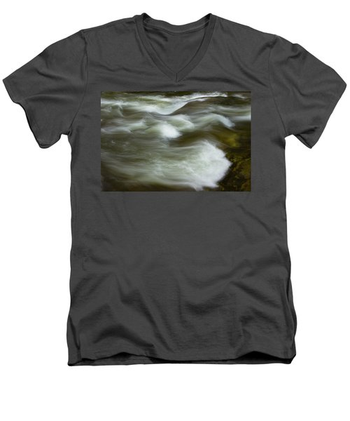 Men's V-Neck T-Shirt featuring the photograph The Action On Top by Mike Eingle