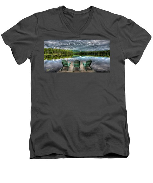 The Adirondack Mountains - Forever Wild Men's V-Neck T-Shirt