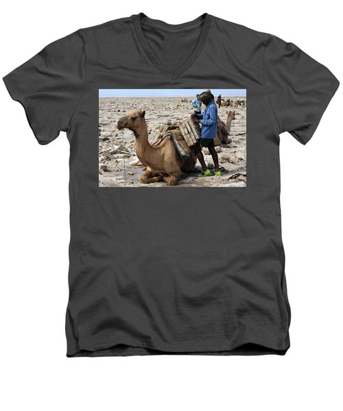 The Afar People  Men's V-Neck T-Shirt