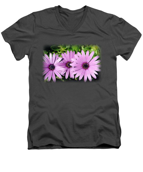 The African Daisy T-shirt 3 Men's V-Neck T-Shirt by Isam Awad