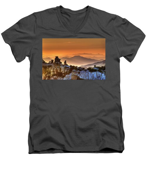 The Ahh Moment Men's V-Neck T-Shirt by Lynn Geoffroy