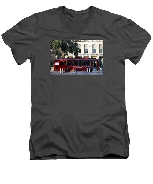 The Alamo Trolley Men's V-Neck T-Shirt