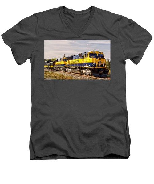 The Alaska Railroad Men's V-Neck T-Shirt