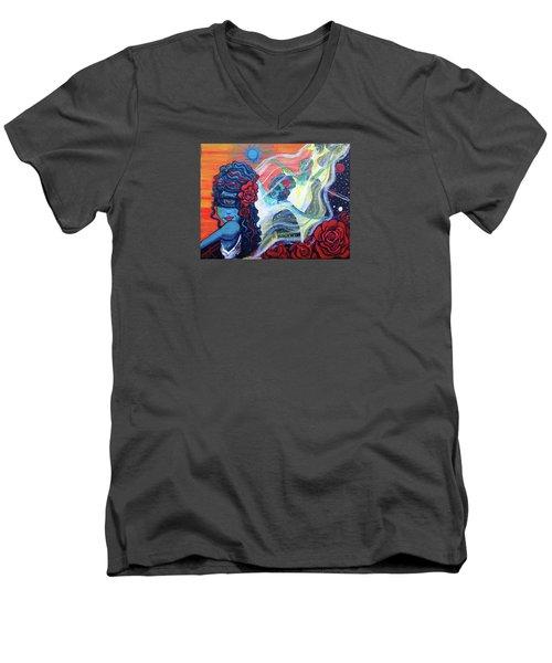 The Alien Scarlet Begonias Men's V-Neck T-Shirt